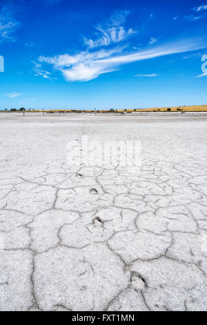 Saltpan near Parnka Point, the Coorong National Park, Fleurieu Peninsula, South Australia, SA, Australia - Stock Photo