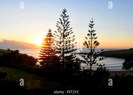Sunrise over Easts Beach, Kiama, Illawarra Coast, New South Wales, Australia - Stock Photo