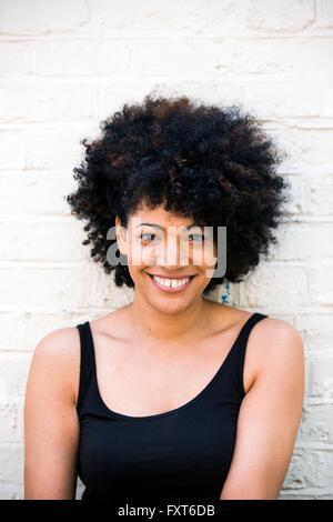 Portrait of happy woman - Stock Photo