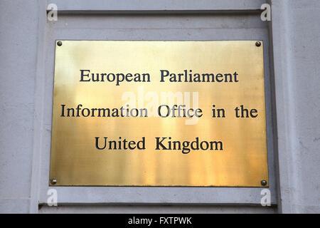 A British Union flag, AKA Union Jack, flies with the European Union (EU) flag, are seen outside Europa House. London, - Stock Photo