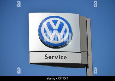 Logo, Volkswagen, Services, Steglitz. Berlin, Deutschland - Stock Photo
