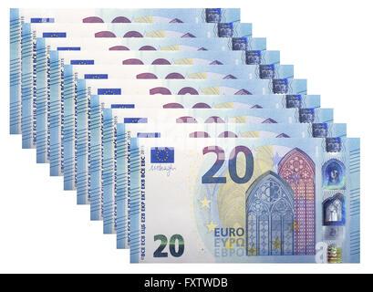 New banknotes 20 Euro, 2015 - Stock Photo