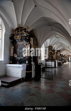 North aisle in Gdansk Oliwa Archcathedral Basilica of The Holy Trinity, Blessed Virgin Mary and St Bernard, Poland - Stock Photo