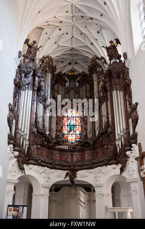 The main Organ in nave of Gdansk Oliwa Archcathedral Basilica of The Holy Trinity, Blessed Virgin Mary and St Bernard, - Stock Photo