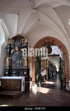 North aisle and altars in church, Gdansk Oliwa Archcathedral Basilica of The Holy Trinity, Blessed Virgin Mary and - Stock Photo