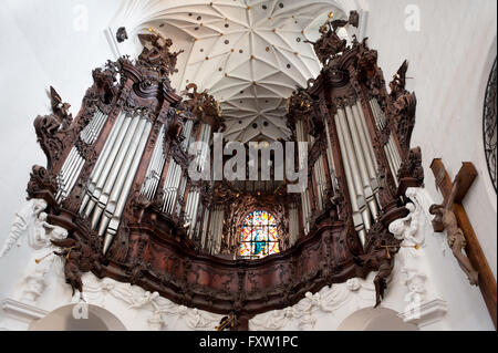 Organ in Gdansk Oliwa Archcathedral Basilica of The Holy Trinity, Blessed Virgin Mary and St Bernard, Polish Bazylika - Stock Photo