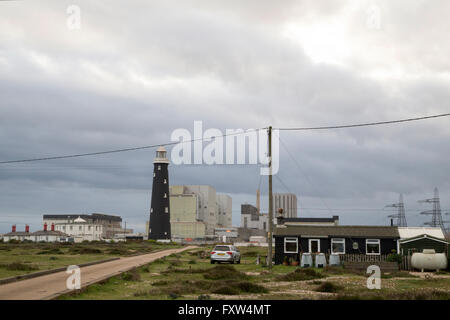 Dungeness nuclear power station owned by EDF situation at Romney Marsh on the South East Coast of Kent - Stock Photo