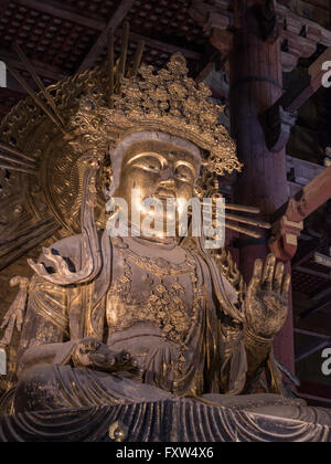 Kokuzo Bosatsu at Tōdai-ji 東大寺 Eastern Great Temple, Buddhist temple in Nara Japan. The Great Buddha Hall, Daibutsuden - Stock Photo