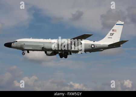 UNITED STATES AIR FORCE BOEING RC135W RIVET JOINT - Stock Photo