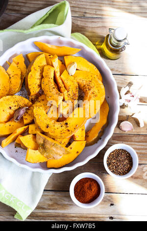Pumpkin and spices - Stock Photo