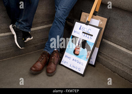March organized by the People's Assembly, demonstrators protest  against austerity - Stock Photo