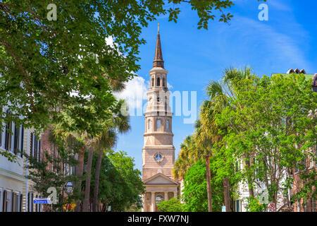 Charleston, South Carolina, USA historic downtown cityscape. - Stock Photo