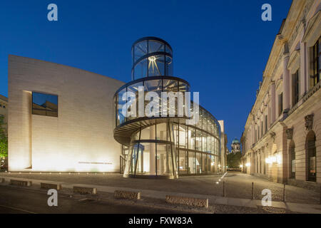 Historical Museum , I.M.Pei, Modern Glas and Steel Architecture, Dome, Berlin - Stock Photo