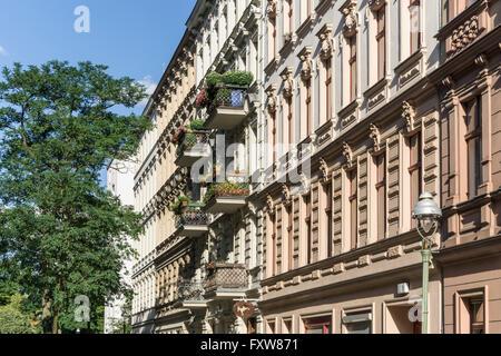 Facade, Wilhelminian Style Architecture,  Seelingstrasse, Charlottenburg, Berlin - Stock Photo