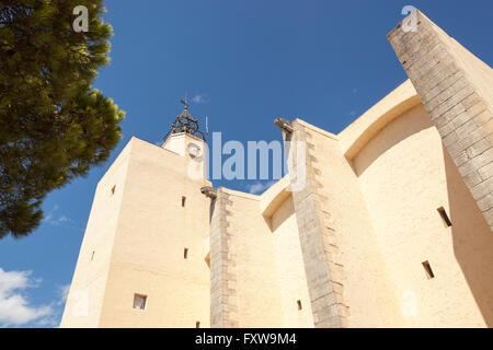Saint Francis of Assisi Church, Port Grimaud, Cote D'Azur, France - Stock Photo