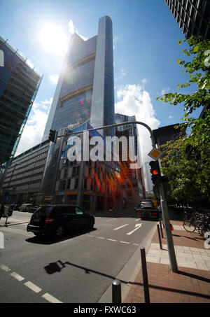 COMMERZBANK TOWER GROSSE GALLUSSTRASSE FRANKFURT GERMANY 25 June 2014 - Stock Photo