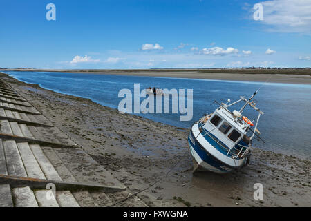 Boat in Saint Valery sur Somme, Picardie, France - Stock Photo