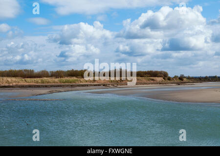 Landscape in bay of Somme in Picardie, France  Paysage à la baie de Somme à Picardie, France - Stock Photo