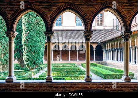 Europe. France. Haute-Garonne. Toulouse. Saint-Sernin church. The cloister. - Stock Photo
