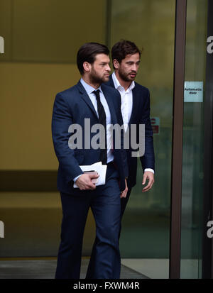 London 18th April 2016 England Rugby star Danny Cipriani leaving Westminster Magistrates Court Credit:  Alan D West/Alamy - Stock Photo