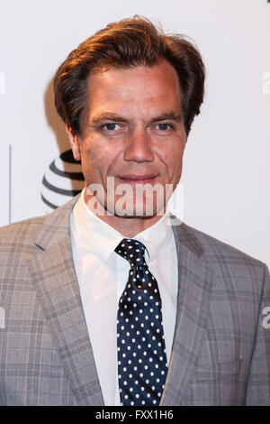 Manhattan, New York, USA. 18 April, 2016. Michael Shannon attends the 'Elvis & Nixon' premiere during the 2016 Tribeca - Stock Photo