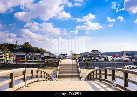 Kintaikyo Bridge in Iwakuni, Hiroshima, Japan. - Stock Photo