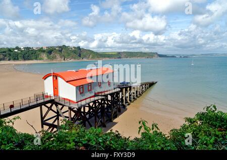 Tenby old lifeboat station  Pembrokeshire west Wales UK - Stock Photo