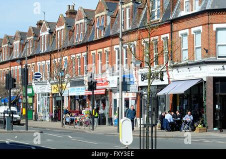 Parade of shops in Heath Road Twickenham West London - Stock Photo