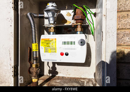 British gas smart meter monitoring usage home technology UK meters metering real time usage budget budgeting charge - Stock Photo