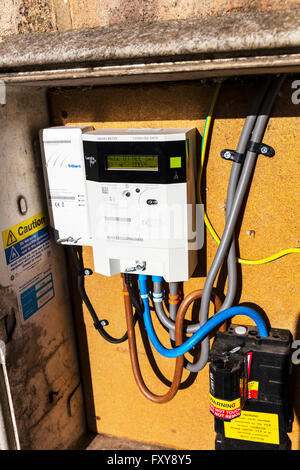 electric electricity smart meter British gas monitoring usage energy home technology UK meters metering real time - Stock Photo