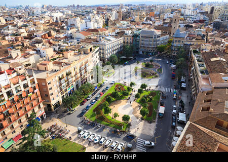 View of the Plaza de la Reina, Valencia, Comunidad Valenciana, Spain - Stock Photo