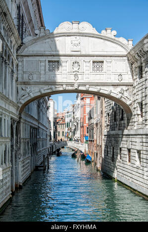 Ponte dei Sospiri, Bridge of Sighs, Palazzo Ducale, Doge's Palace, Venice, Italy - Stock Photo