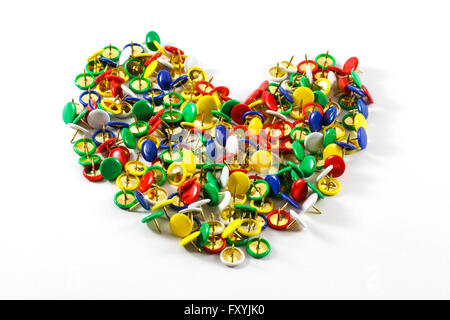 Full heart made with office material - Stock Photo