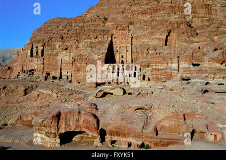 The Royal Tombs, Petra, UNESCOP World Heritage Site, Jordan - Stock Photo
