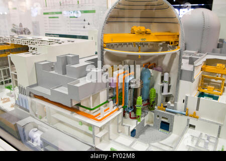 Scale model of Advanced Power Reactor 1400 (APR1400, Nuclear) - Stock Photo