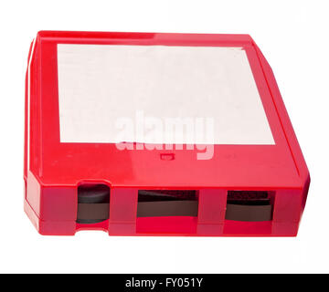 A vintage eight track tape with blank label for custom copy. - Stock Photo
