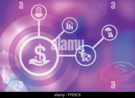 Human hand holding Dollar currency symbol represents the concept of safety and security - Stock Photo
