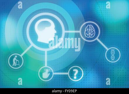 Illustrative image of Alzheimer disease and its impact - Stock Photo