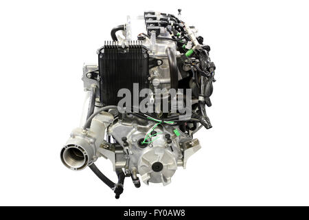 boat engine front view - Stock Photo