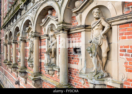Details from the arcade, Frederiksborg Castle, Denmark - Stock Photo