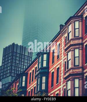 Brick Apartment Building Illustration.  brick apartment buildings Victorian architecture Terrace Houses In Back Bay Boston Stock Photo Brick building Massachusetts