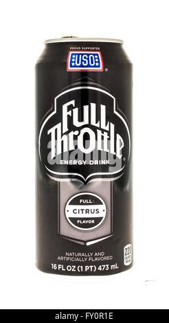 Winneconne, WI - 5 June 2015:  Can of Full Throttle energy drink - Stock Photo