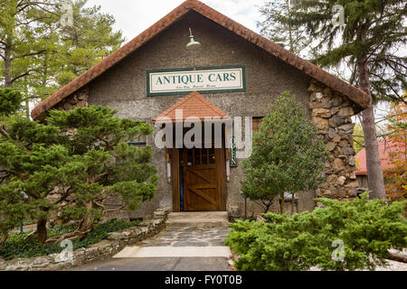 The Estes-Winn Antique Car Museum at the Groovewood Grounds in Asheville, North Carolina. - Stock Photo