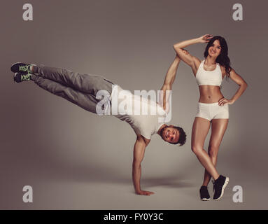 Young athletic couple - Stock Photo