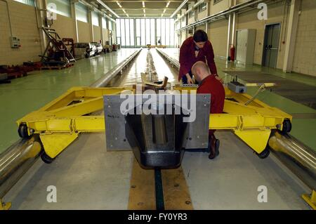 University of Milan - Bovisa (Italy), department of Engineering, crash test laboratory - Stock Photo
