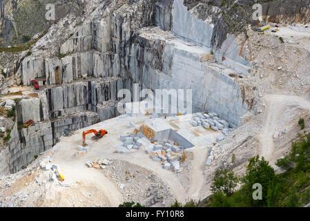 Carrara marble quarry, Tuscany, Italy - Stock Photo