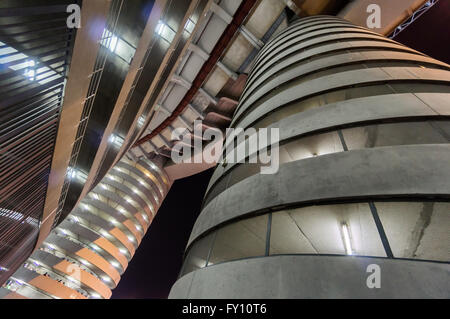 MILAN, ITALY - july 2014: Column of San Siro football stadium. Stadium is the home of the teams Milan and Inter. - Stock Photo