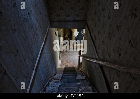 Abandoned Derelict Dangerous Farm Building Stock Photo
