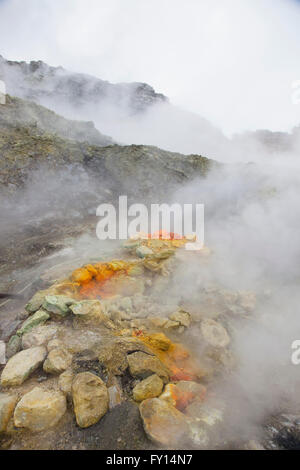 Smoke emitting from Solfatara - Stock Photo