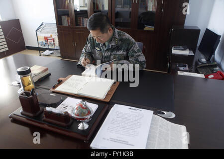 Heihe, Heihe, CHN. 20th Apr, 2016. Heihe, CHINA - May 7 2015: (EDITORIAL USE ONLY. CHINA OUT) Political commissar - Stock Photo